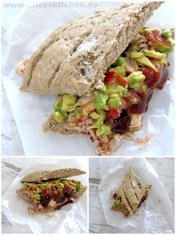 Pulled Chicken-Avocado-Sandwich